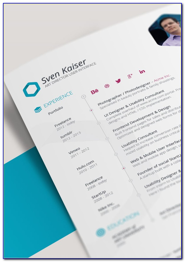 Free Indesign Template Resume