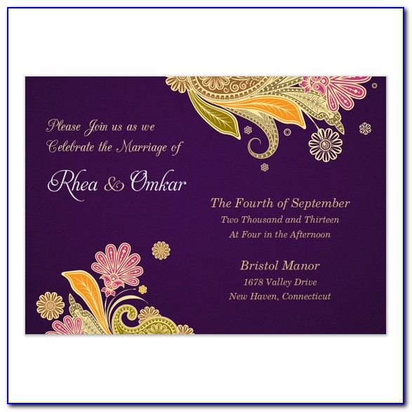 Free Indian Wedding Ecards Invitation Templates