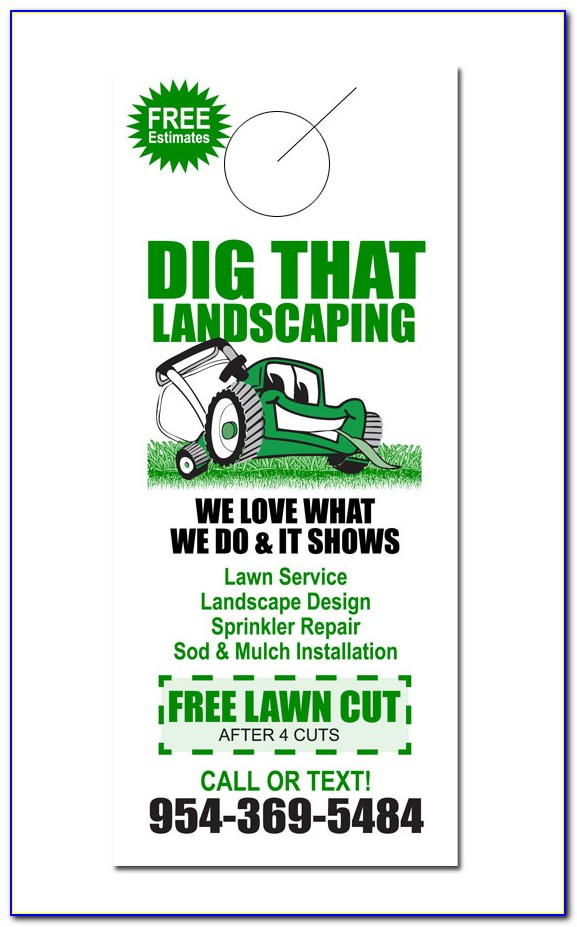 Free Lawn Care Door Hanger Template