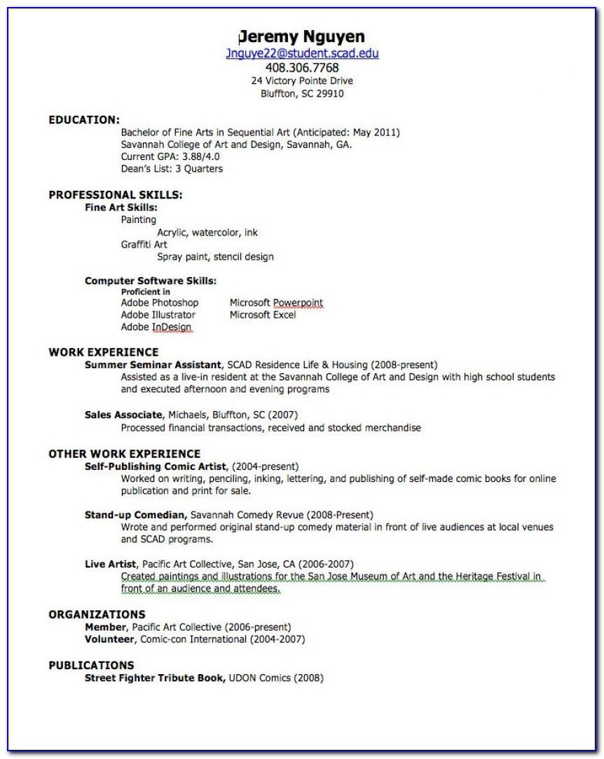 Free No Charge Resume Builder