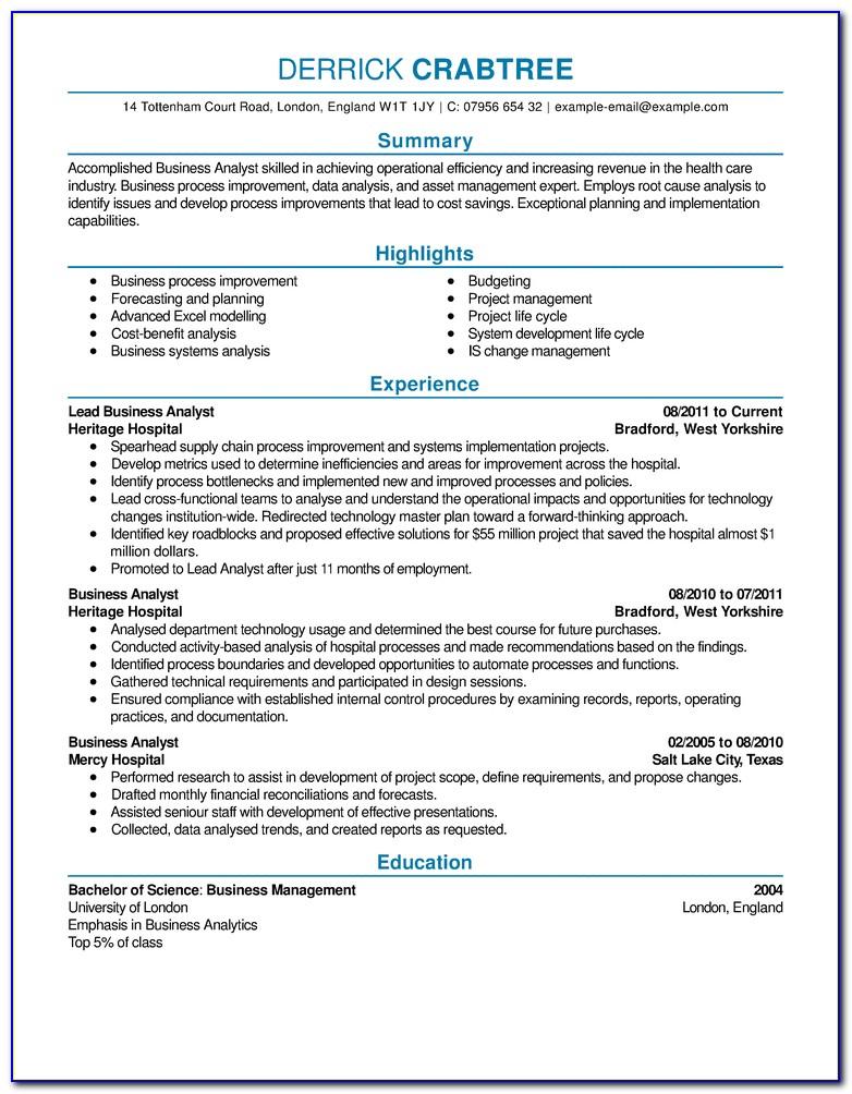 Free Online Resume Format Sample