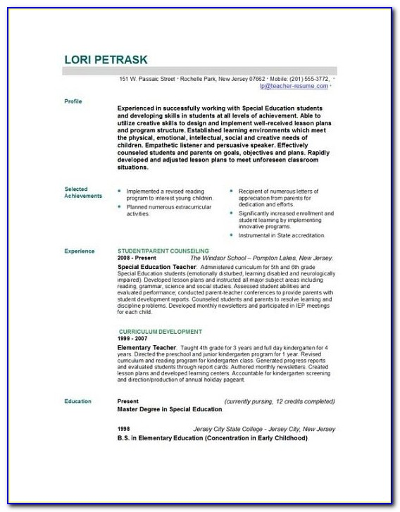 Resume Sample For Beginning Teachers Resume Maker Create Teacher Resume Template 2016
