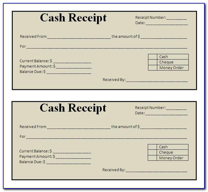 Free Payment Receipt Template Excel