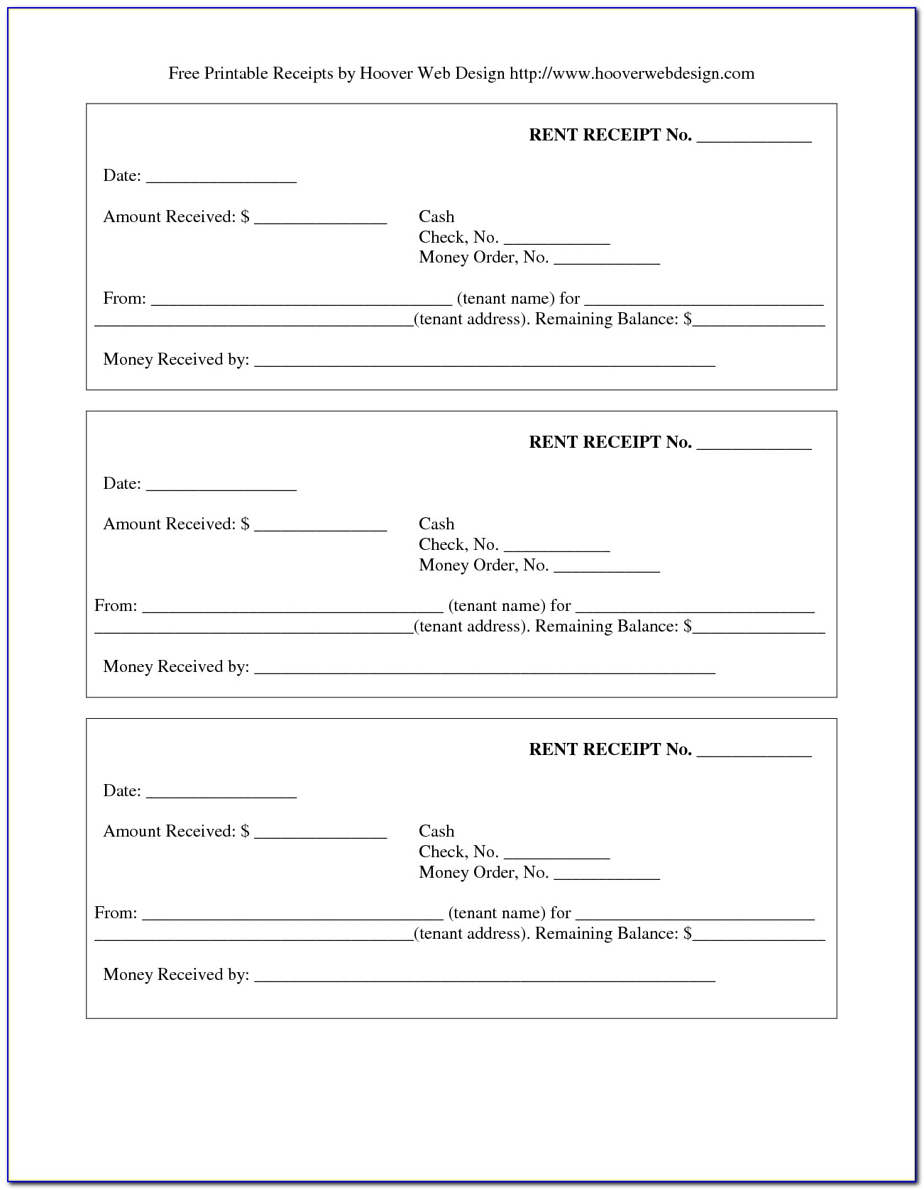Free Payment Receipt Template Word