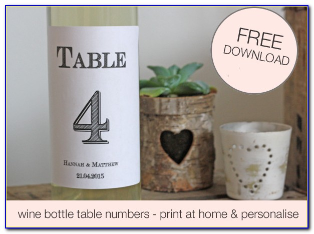 Free Photo Wine Bottle Labels Template