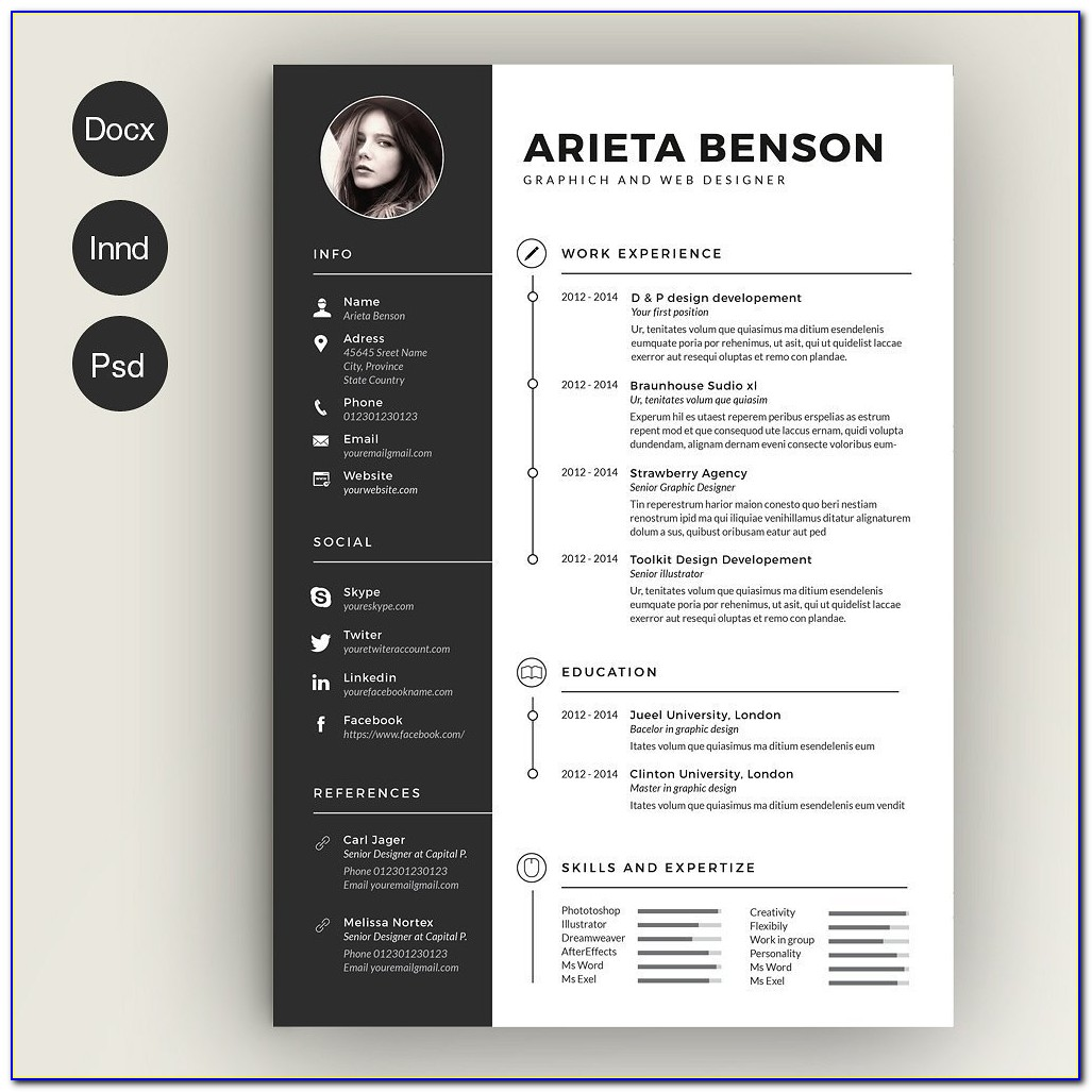 Free Premium Resume Templates Word