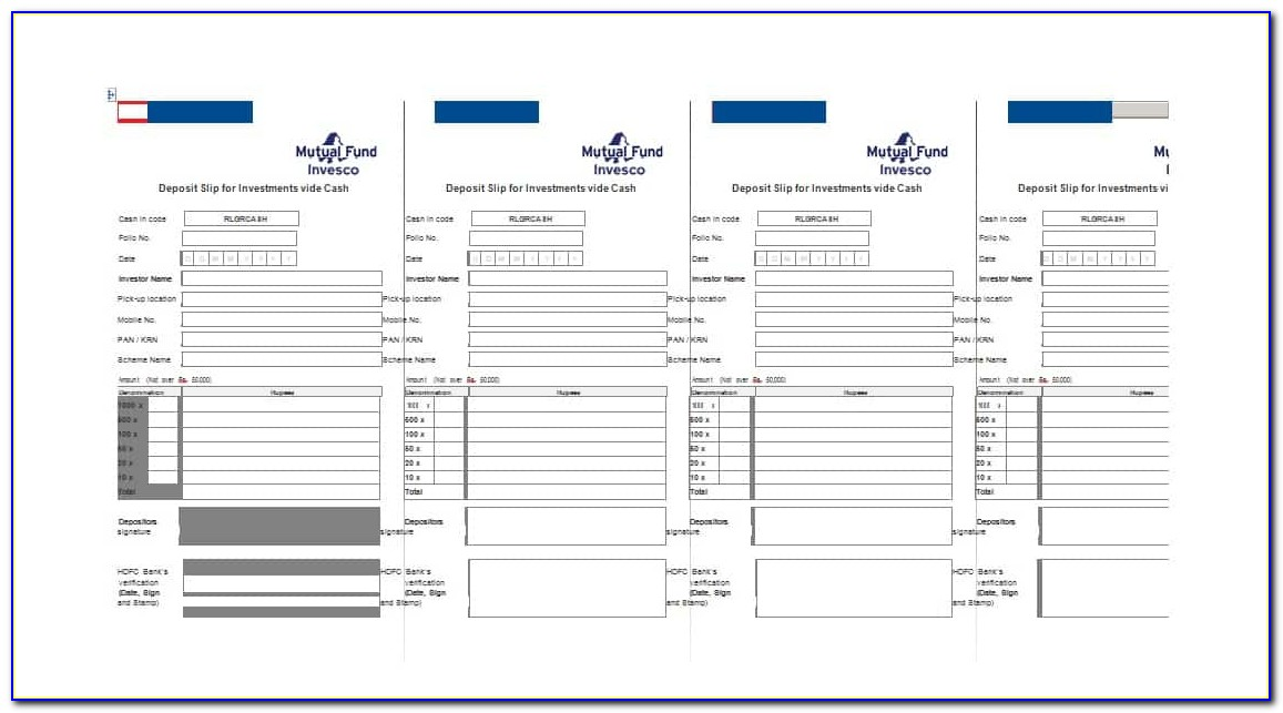 Free Printable Deposit Slips Template For Quickbooks