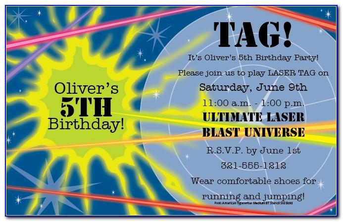 Free Printable Laser Tag Invitation Template