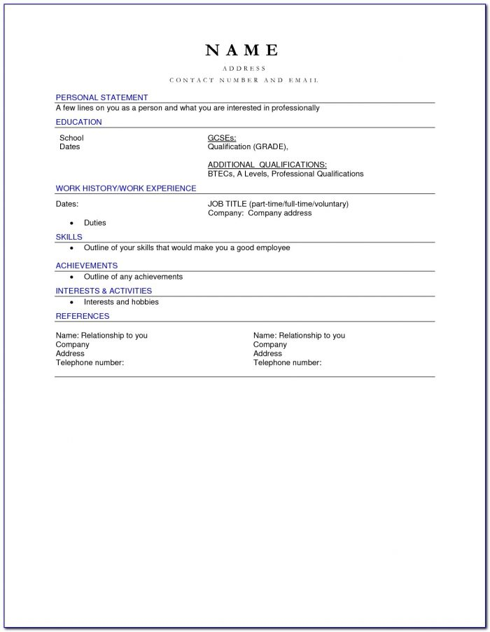 Blank Cv Templates Free Download Blank Cv Template Professional Throughout Free Resume Templates For Mac