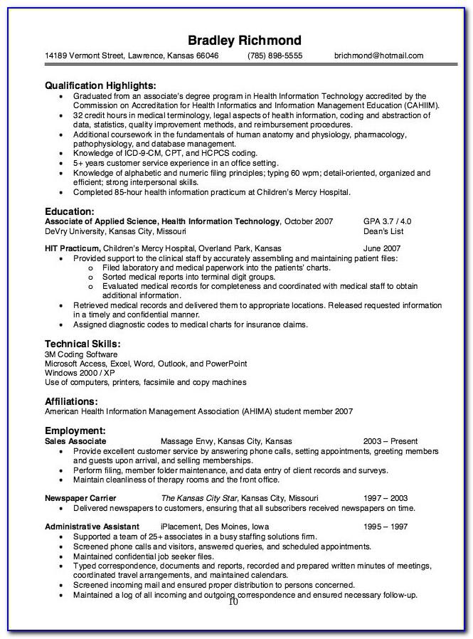 Free Resume Preparation Software