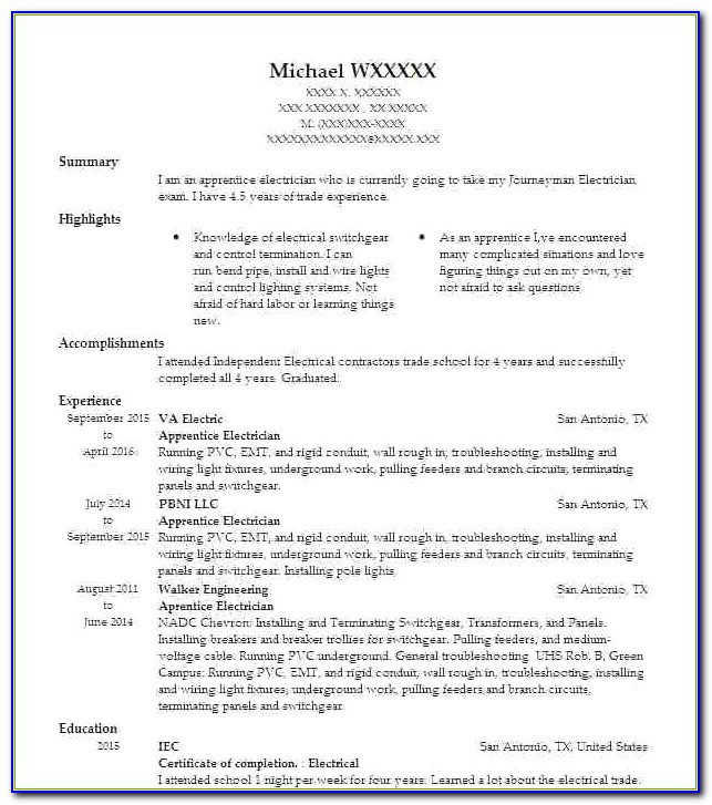 Electrician Helper Resume Awesome Electrician Apprentice Resume
