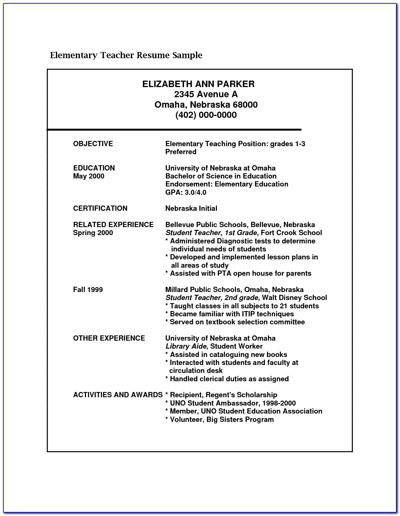 Teaching Experience Cv Sample Lawteched With Regard To Teacher Resume Template 2017