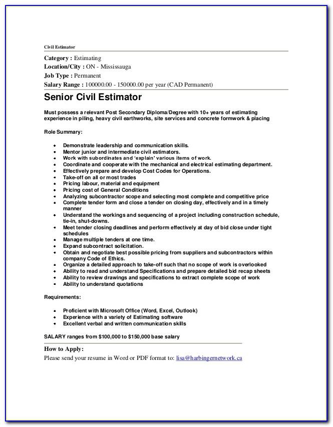 Free Resume Templates Construction