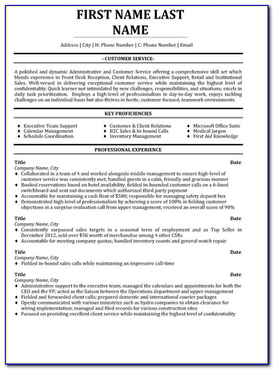 Customer Service Professional Resume Sample & Template For Retail Customer Service Resume Template