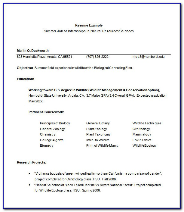 Free Resume Templates For Libreoffice