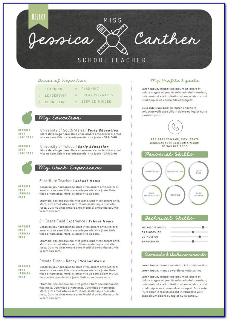 Free Resume Templates For Preschool Teachers
