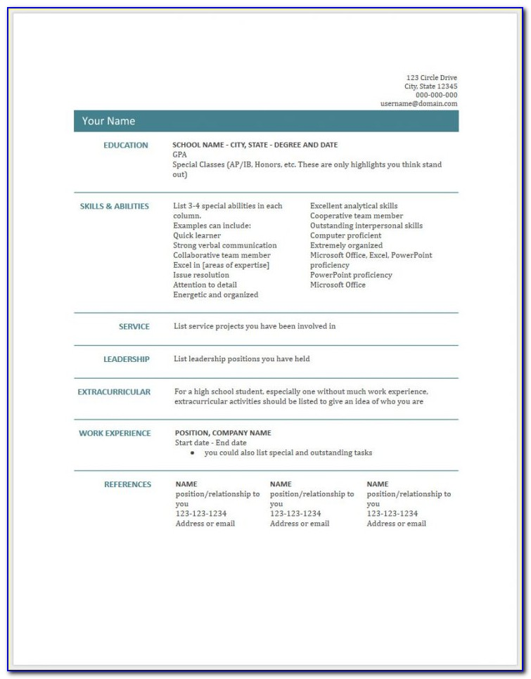 Free Resume Templates Google