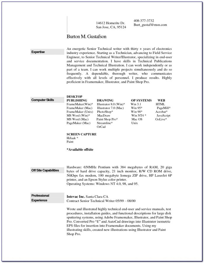 Free Resume Templates Mac Word