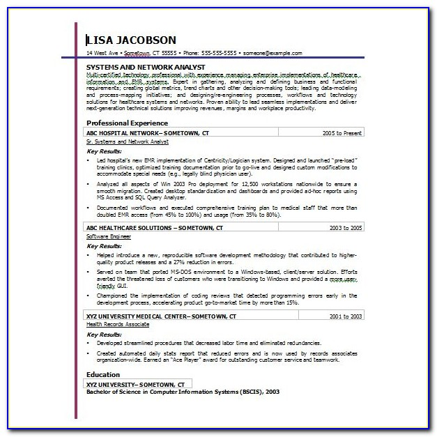 Free Resume Templates Microsoft Office Word 2007