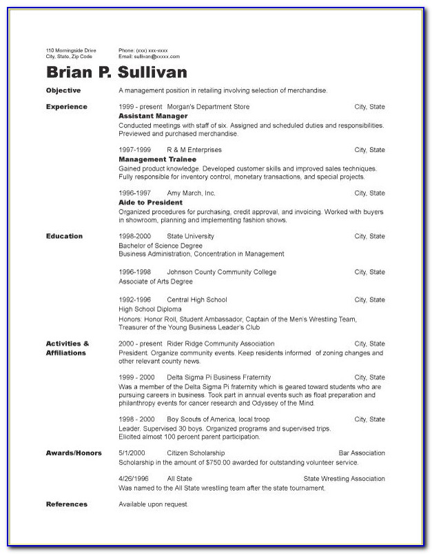17 Best Ideas About Chronological Resume Template On Pinterest With Regard To Chronological Resume Sample