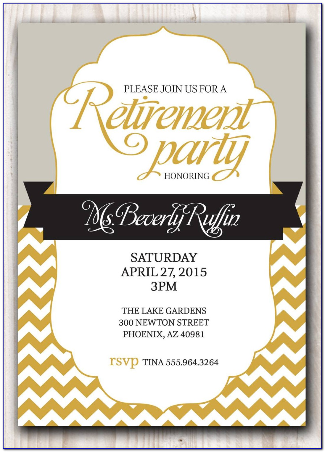 Free Retirement Party Flyer Template Word