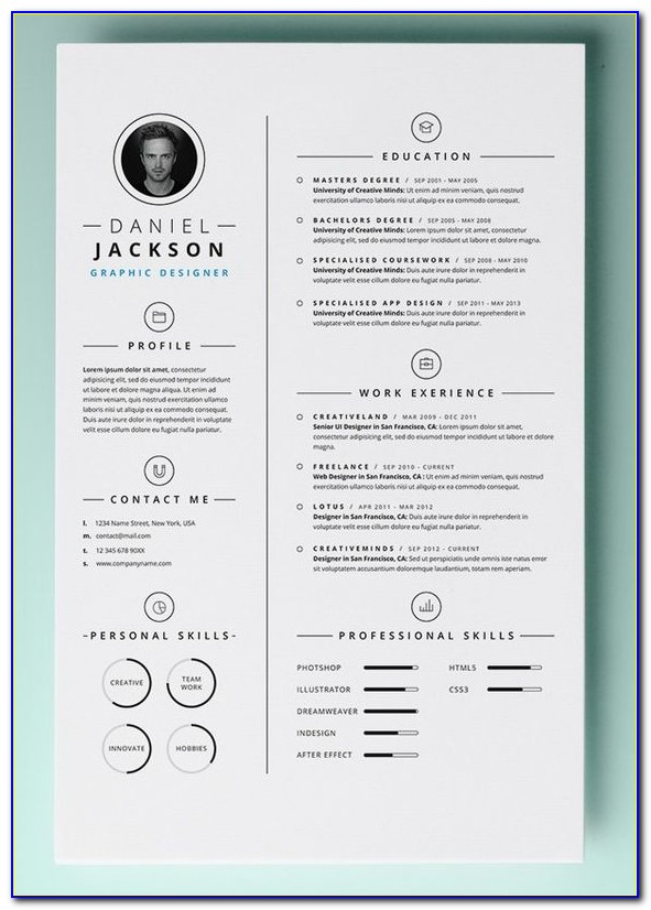 Free Sample Resume Format In Word Document