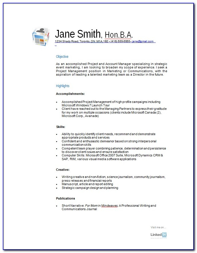 Free Samples Resume Formats
