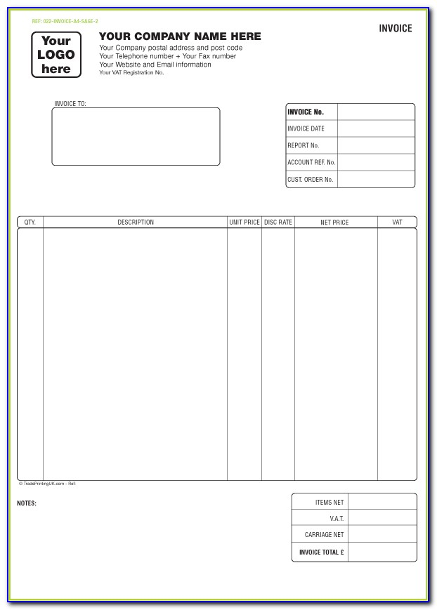 Free Simple Invoice Template Excel