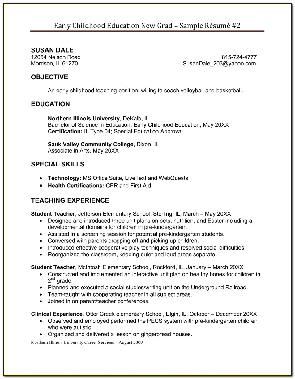 Free Special Education Resume Templates