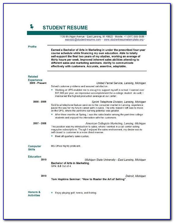 Free Student Resume Templates Australia