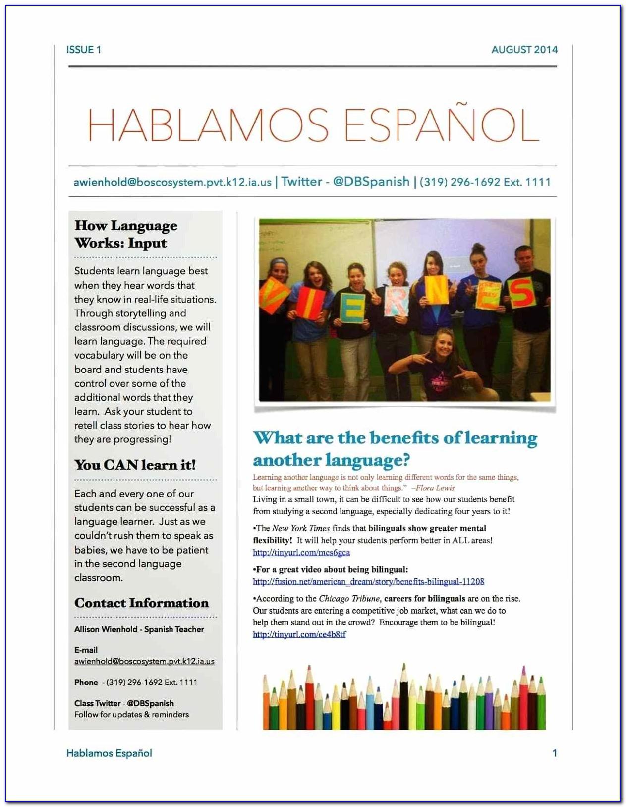 Free Teacher Newsletter Templates Google Docs