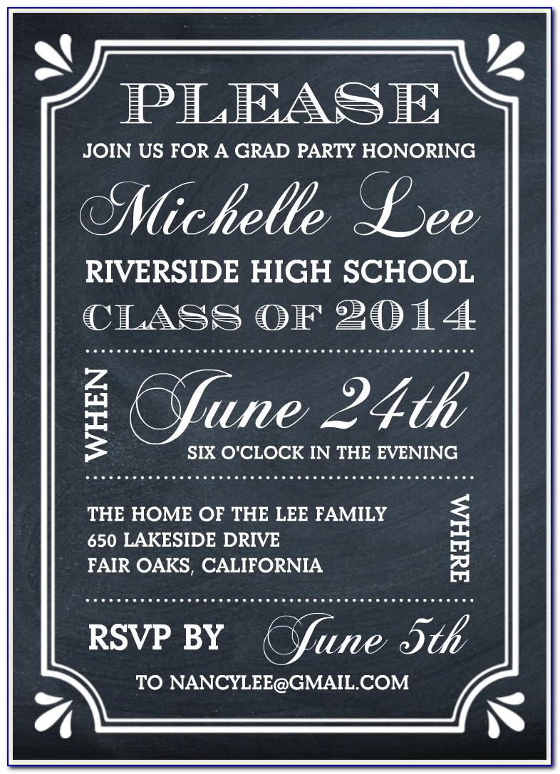 Free Template For Graduation Party Invitations
