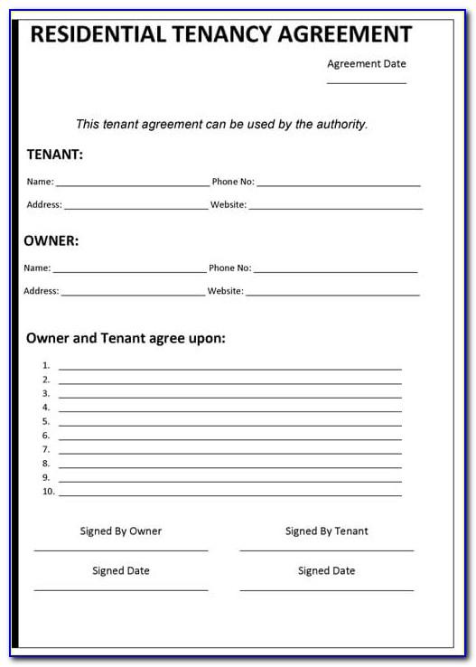 Free Tenancy Agreement Template Pdf