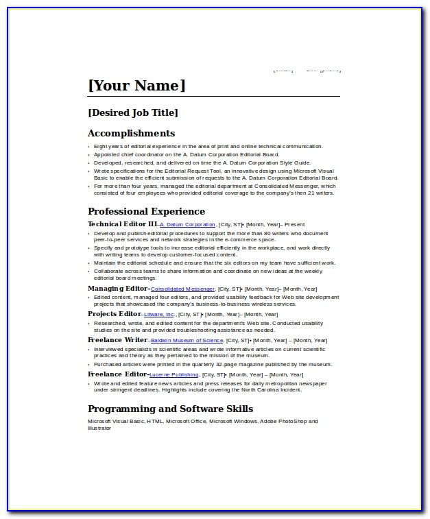 Freelance Resume Writer Cover Letter