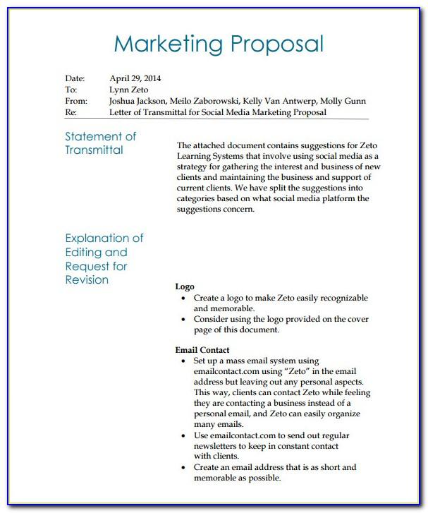 Freelance Social Media Proposal Template