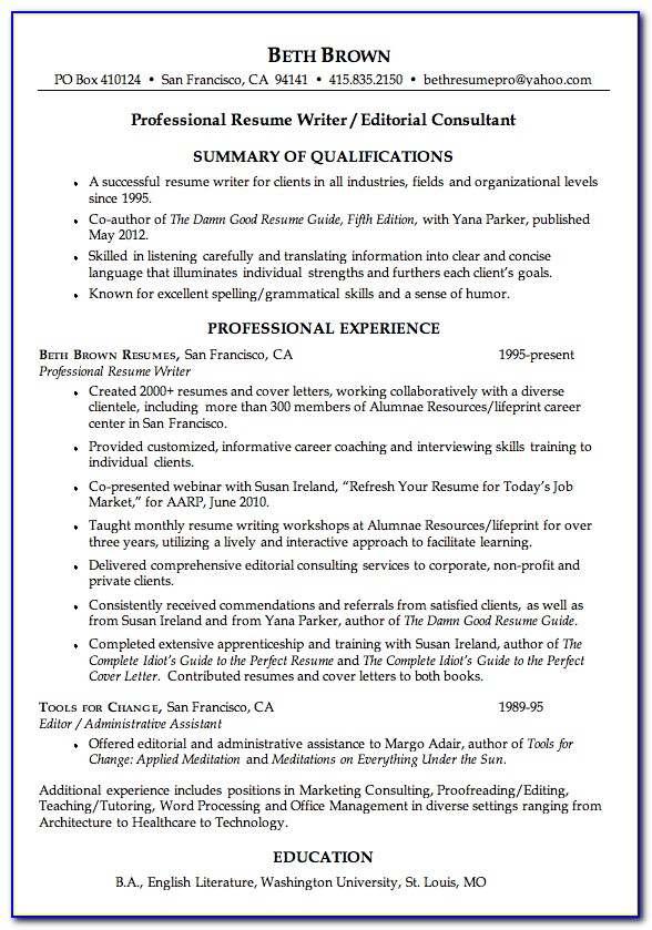 Get Your Resume Professionally Written