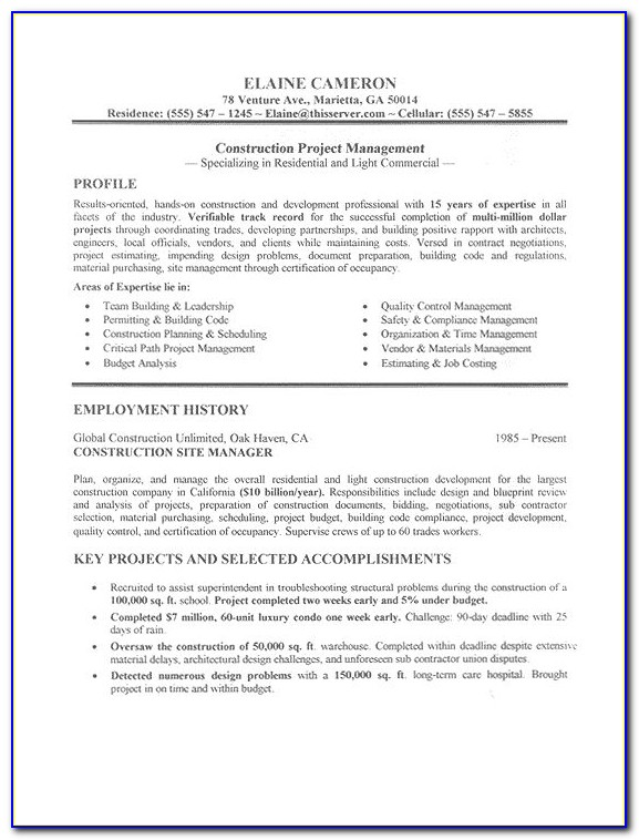 Good Sample Resumes For Jobs
