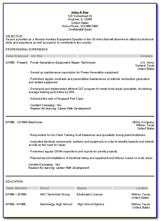 Veterans Resume Builder Best Resume Example Throughout Military Resume Builder 2017