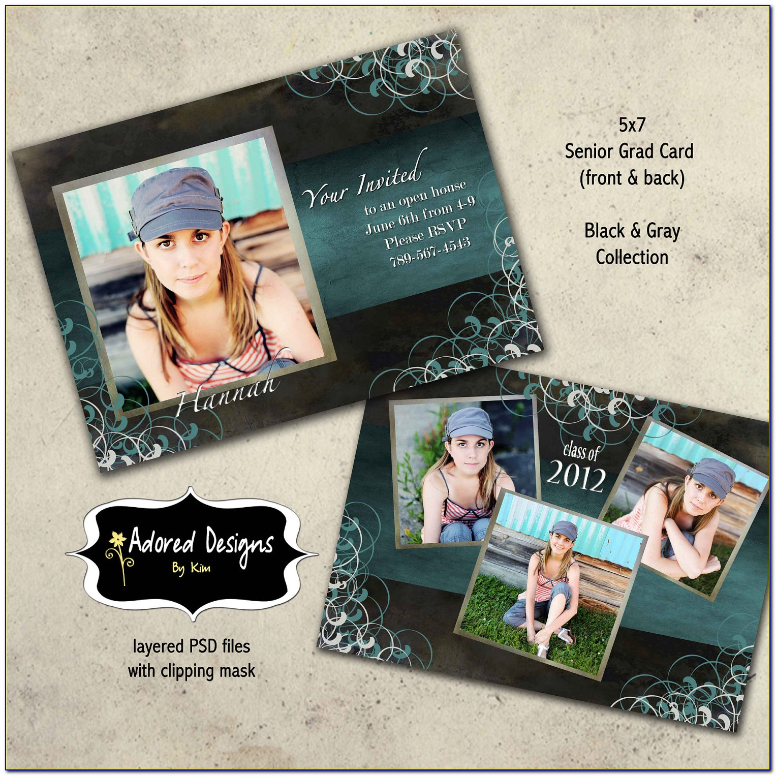 Graduation Announcement Photoshop Templates