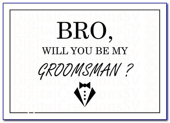Groomsmen Card Template