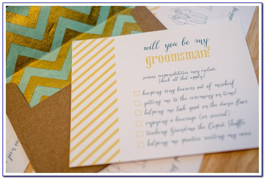 Groomsmen Invitation Template