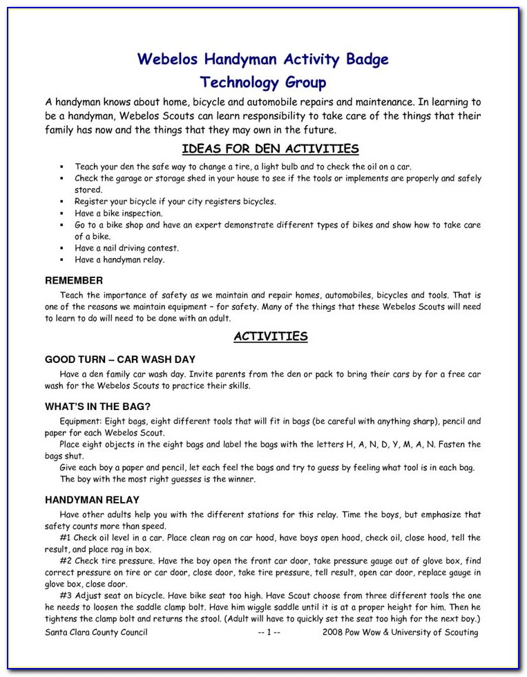 Handyman Resume Template
