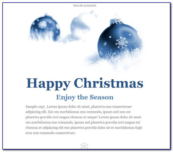Happy Holidays Html Email Template Free