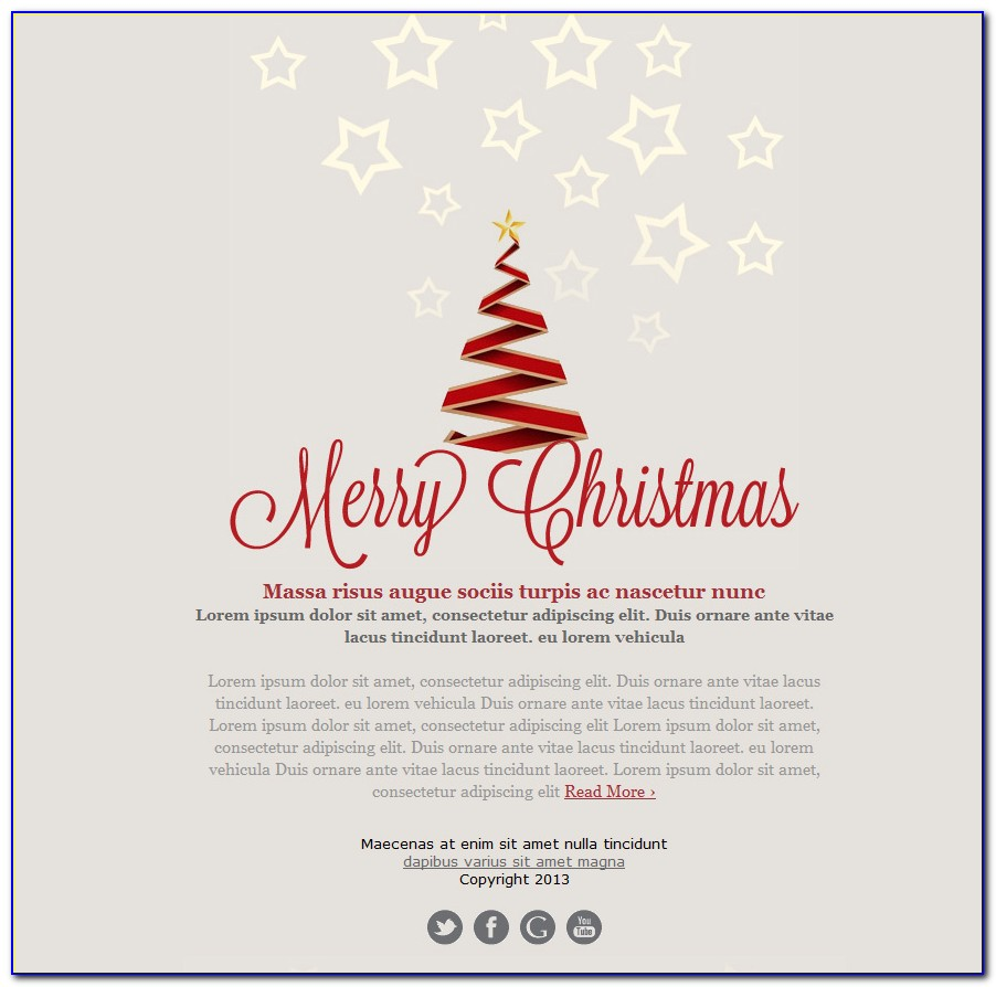 Holiday Email Templates Free Downloads