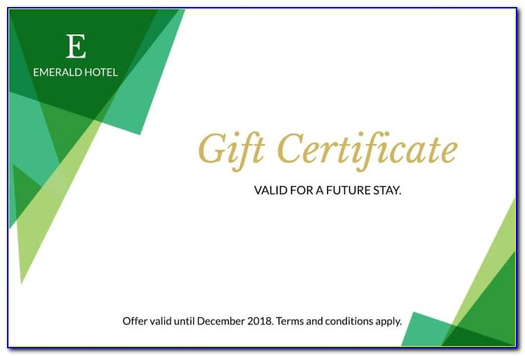 Hotel Gift Voucher Template Free