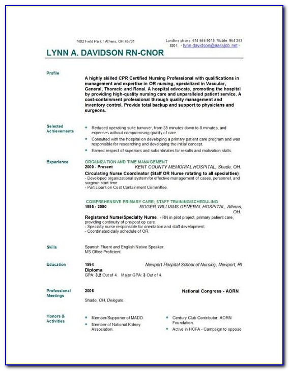 How To Create A Nurse Practitioner Resume