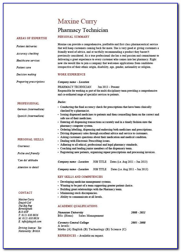 How To Create A Resume For Job Pdf