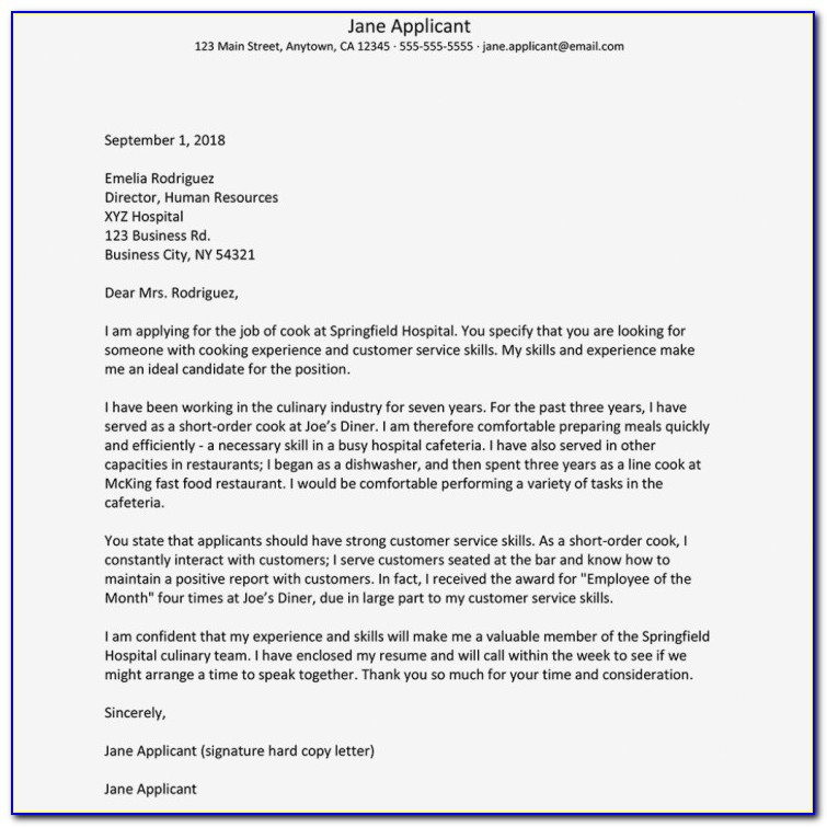 How To Make A Great Cover Letter For A Resume