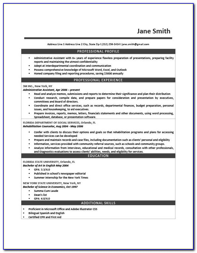 How To Make A Resume Step By Step Instruction