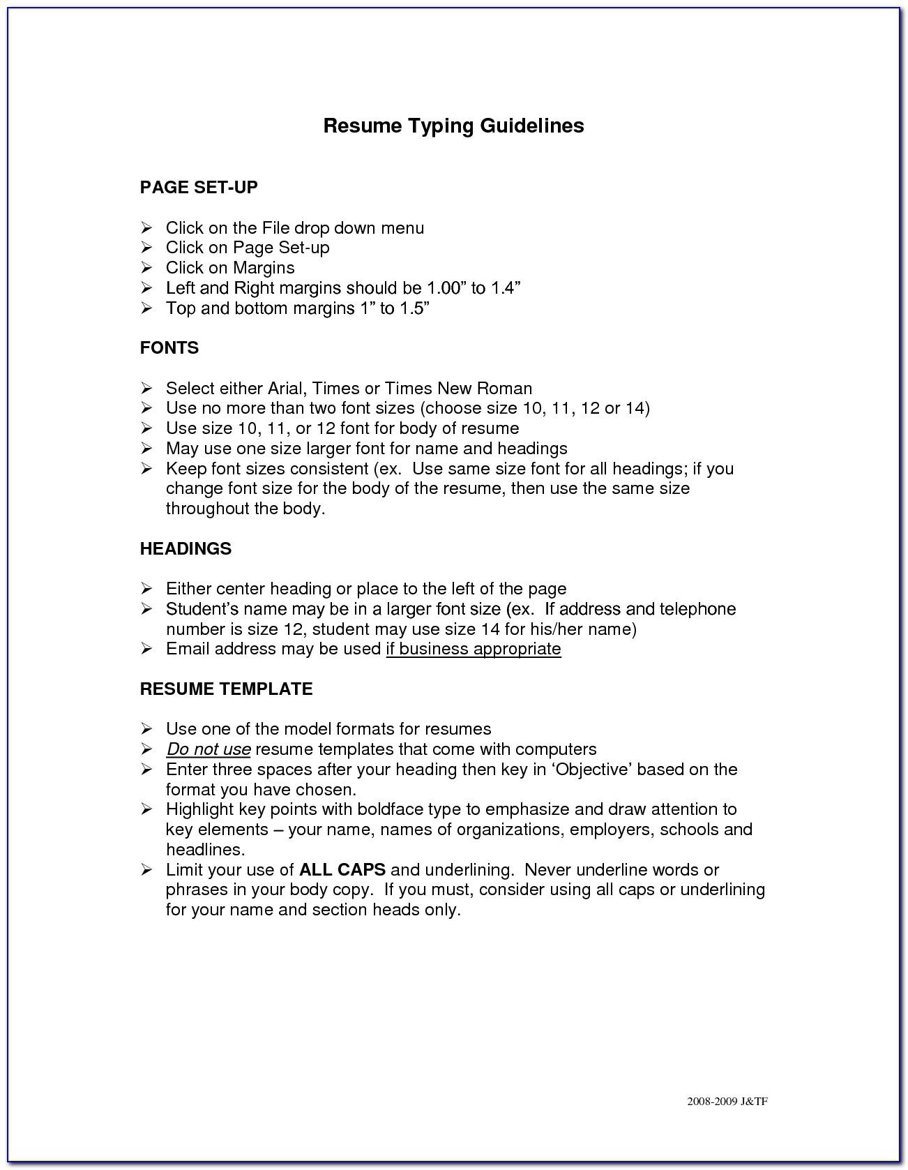 How To Prepare A Resume For A Job Fair